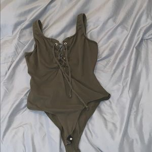 Green bodysuit